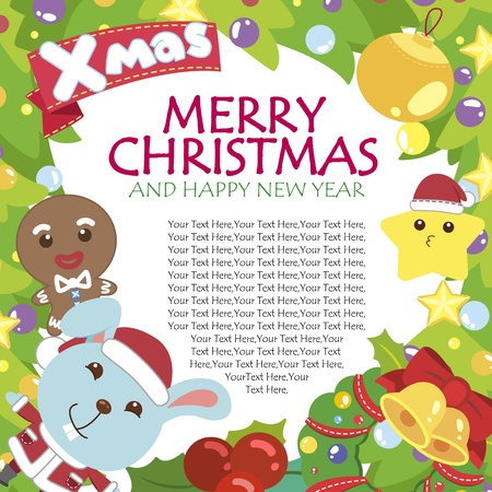 cartoon Xmas card Stock Vector - 16453525
