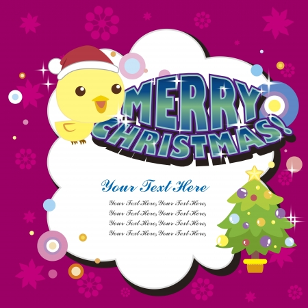 cartoon Xmas card Stock Vector - 16453500
