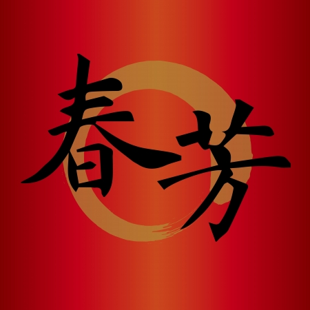 Chinese character for  good fortune Chinese new year Stock Vector - 16544090