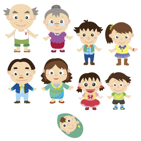 cartoon family icon Vector