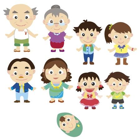 cartoon family icon Stock Vector - 16684565