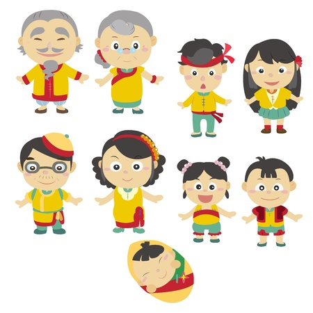 cartoon family icon Stock Vector - 16684554