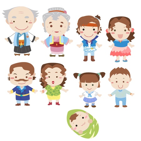 dibujos animados icono de la familia