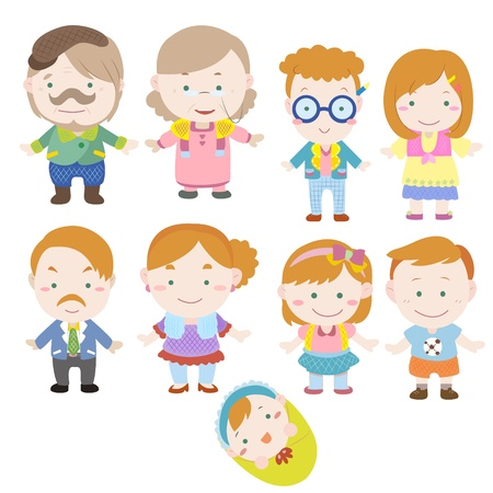 cartoon family icon Stock Vector - 16684581