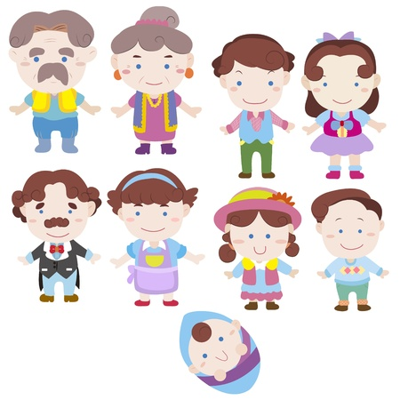 cartoon family icon Stock Vector - 16684558
