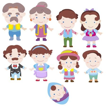cartoon family icon Stock Vector - 16684558