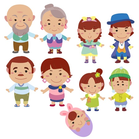 cartoon family icon Stock Vector - 16684567