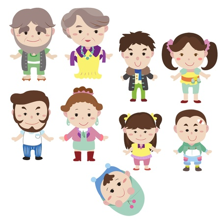 cartoon family icon,vector drawing Vector