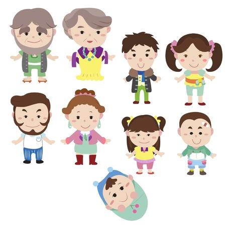 cartoon family icon,vector drawing Stock Vector - 16684553