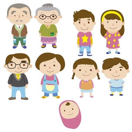 cartoon familie pictogram