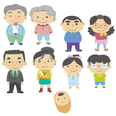 Ícone da família dos desenhos animados