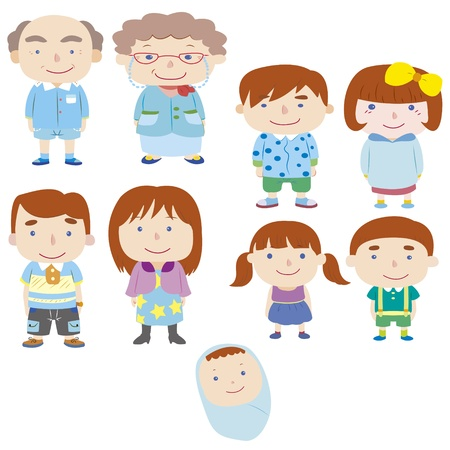 testvérek: karikatúra család icon