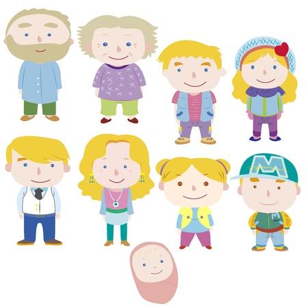 만화 가족 아이콘
