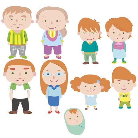 cartoon family icon Stock Vector - 16684559