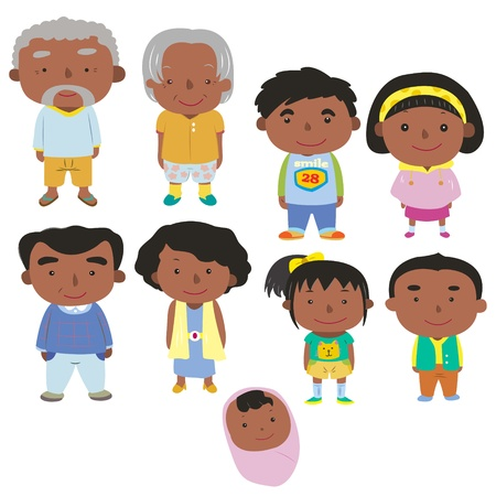 cartoon family icon Stock Vector - 16684556