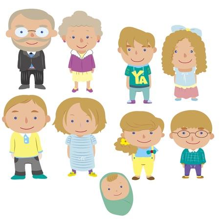 cartoon family icon Stock Vector - 16684557
