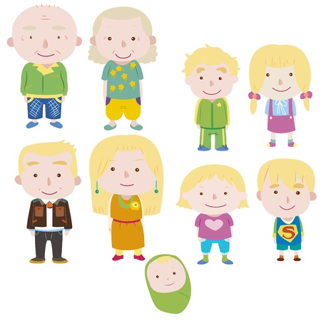 cartoon family icon Stock Vector - 16684551