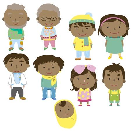 cartoon family icon Stock Vector - 16684555