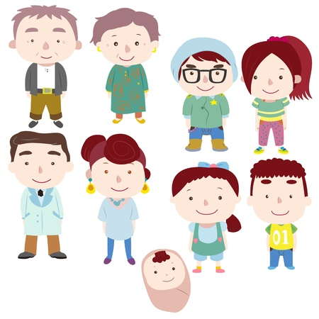 cartoon family icon Stock Vector - 16684563