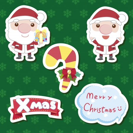 xmas cute cartoon set Stock Vector - 16684582