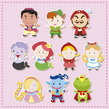 cartoon story people icons,vector,illustration Stock Vector - 17017193
