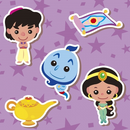 cartoon fairy: Cartoon story people icons,vector,illustration Illustration