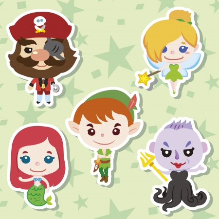 Cartoon story people icons,vector,illustration Vector