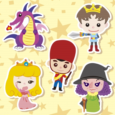 princes: Cartoon story people icons,vector,illustration Illustration