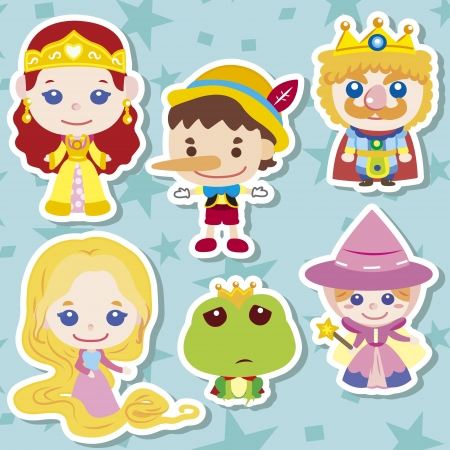 rapunzel: Cartoon story people icons,vector,illustration Illustration