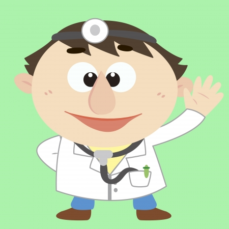 kid doctor: a cute cartoon doctor