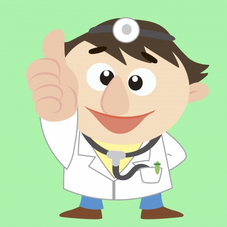 a doctor thumbs up Vector