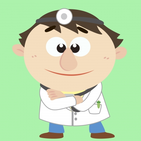 a cute cartoon doctor Stock Vector - 17203212