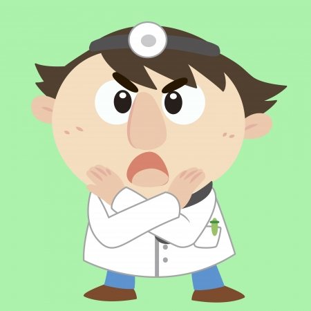 doctor with a denial of action  Stock Vector - 17203197