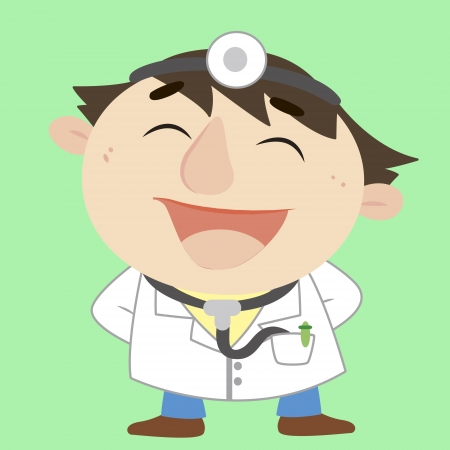 a happy doctor Vector