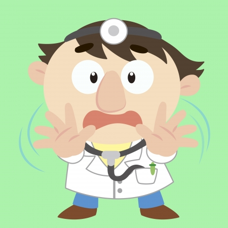 doctor with a denial of action Stock Vector - 17203204