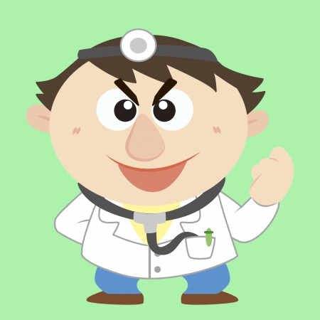 Commentary by a cartoon doctor Stock Vector - 17203203