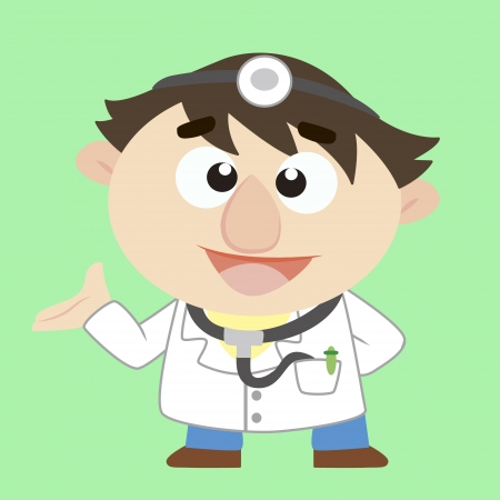 Commentary by a cartoon doctor Stock Vector - 17203194