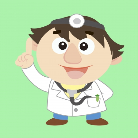 commentary by a cute doctor  Vector