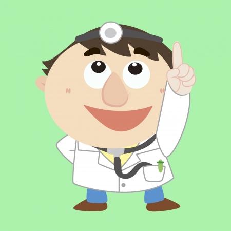 médico caricatura se refiere a la parte superior