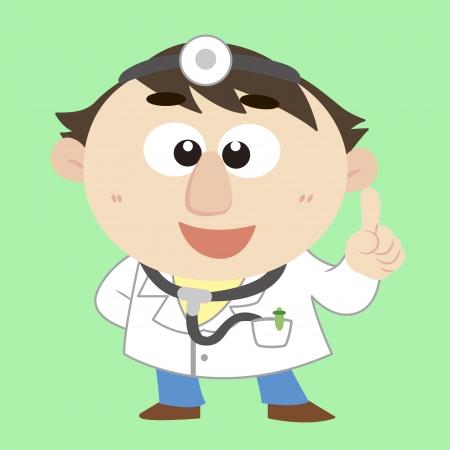 commentary: comentario de un doctor lindo Vectores