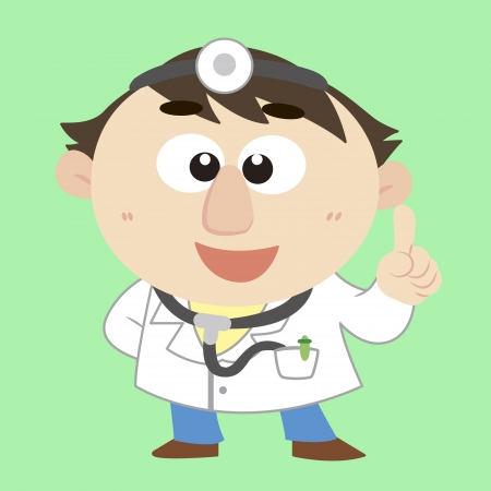 commentary by a cute doctor Stock Vector - 17214236