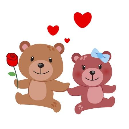 suitor: illustrazione di una coppia di orso stretti l'uno all'altro