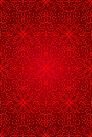 chinese flower: seamless abstract floral pattern background