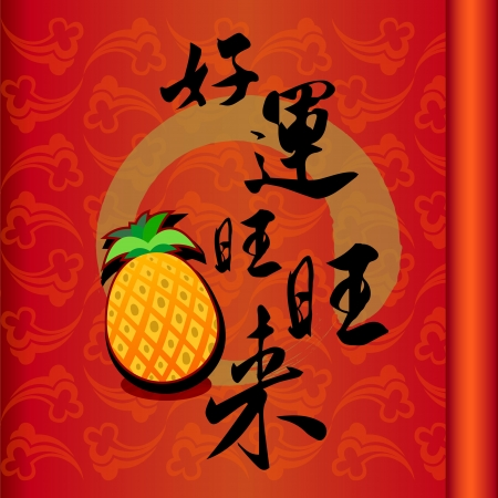 Chinese character for  good fortune Chinese new year Stock Vector - 17240690