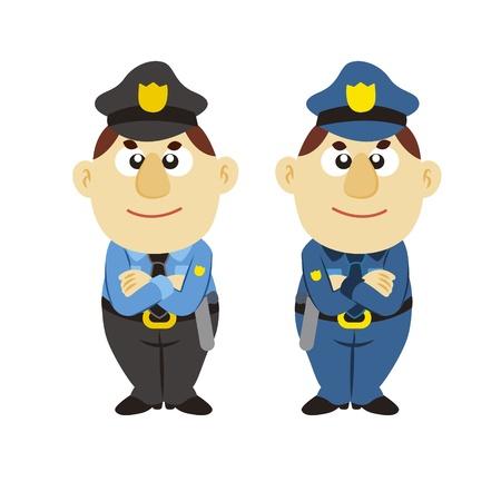 funny cartoon policeman, two colors Stock Vector - 17274773
