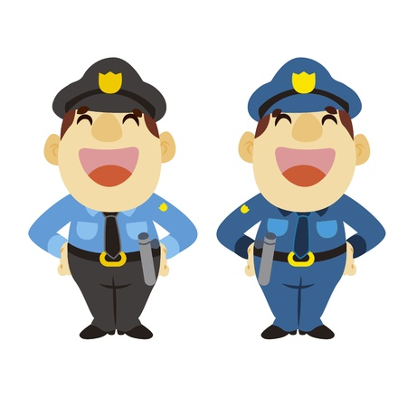 funny cartoon policeman, two colors Stock Vector - 17274722