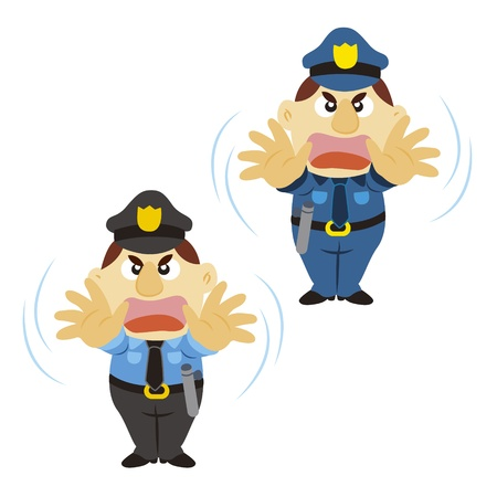 funny cartoon policeman with a denial of action Stock Vector - 17274787