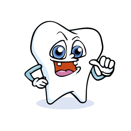 a cartoon tooth Stock Vector - 17457413