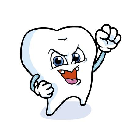 funny cartoon tooth ,vector Stock Vector - 17457422