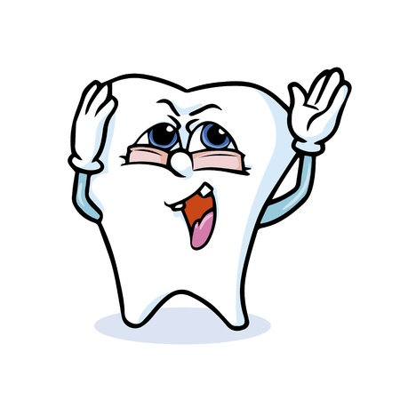 funny cartoon tooth  Vector